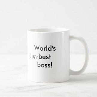 Världs (dum) bäst chef kaffe kopp