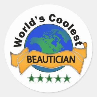 Världs kallaste Beautician Runt Klistermärke