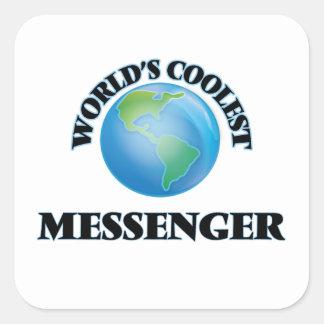 Världs kallaste budbärare fyrkantigt klistermärke