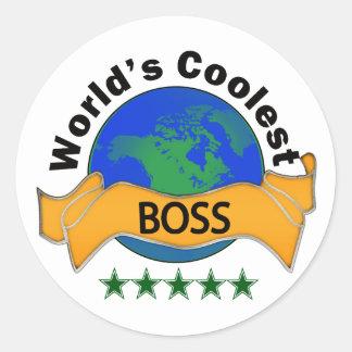 Världs kallaste chef runt klistermärke