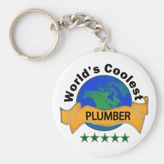 Världs kallaste rörmokare rund nyckelring