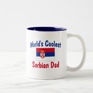 Världs kallaste serbiska pappa Två-Tonad mugg