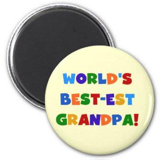 Världs ljusa färger gåvor för Bäst-est morfar Magnet