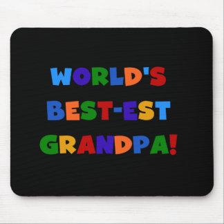 Världs ljusa färger T-tröja för Bäst-est morfar Musmatta