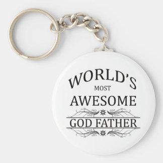 Världs mest enorm gudfar rund nyckelring