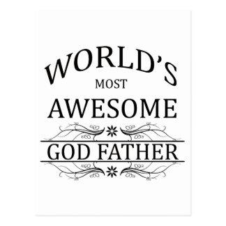 Världs mest enorm gudfar vykort
