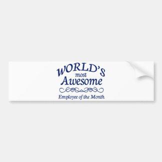 Världs mest enorma anställd av månaden bildekal