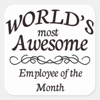 Världs mest enorma anställd av månaden fyrkantigt klistermärke