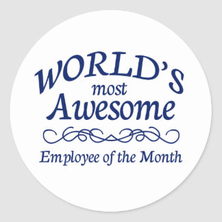 Världs mest enorma anställd av månaden runt klistermärke