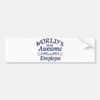 Världs mest enorma anställd bildekal