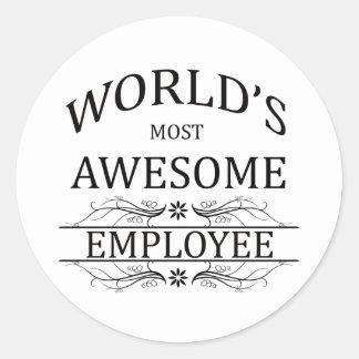 Världs mest enorma anställd runt klistermärke