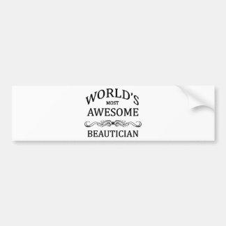 Världs mest enorma Beautician Bildekal