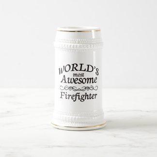 Världs mest enorma brandman mugg