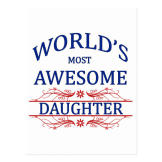Världs mest enorma dotter vykort