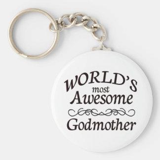Världs mest enorma gudmor rund nyckelring