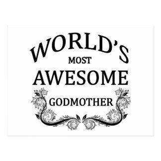 Världs mest enorma gudmor vykort