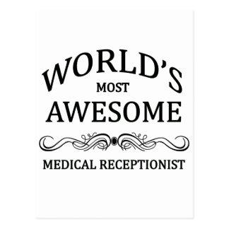 Världs mest enorma medicinska Receptionist Vykort