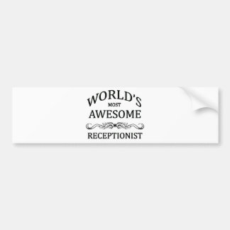 Världs mest enorma Receptionist Bildekal
