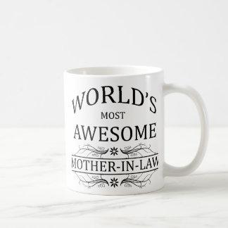 Världs mest enorma svärmor kaffemugg