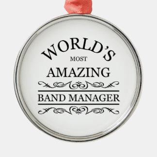 Världs mest fantastisk musikbandchef julgransprydnad metall