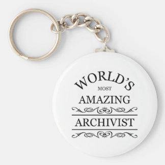 Världs mest fantastiska arkivarie rund nyckelring