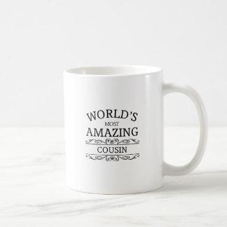 Världs mest fantastiska kusin kaffemugg