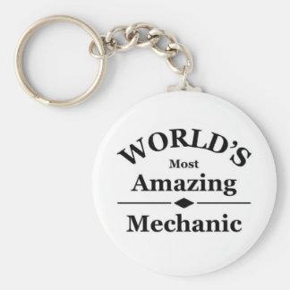 Världs mest fantastiska mekaniker rund nyckelring