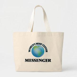 Världs mest klyftiga budbärare tote bags