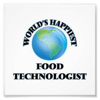 Världs mest lycklig matTechnologist Fototryck