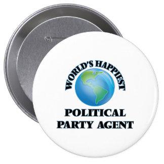 Världs mest lycklig politiskt partiagent stor knapp rund 10.2 cm