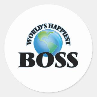 Världs mest lyckliga chef runt klistermärke