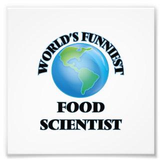 Världs mest rolig matforskare konstfoto