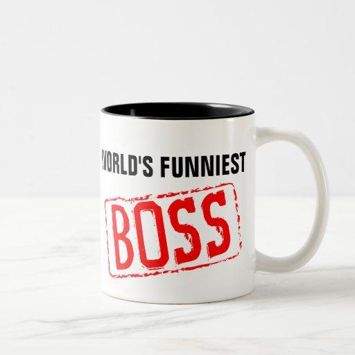 Världs mest rolig mugg för chefkaffe