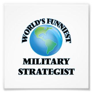 Världs mest roliga militära strateg fotografiska tryck