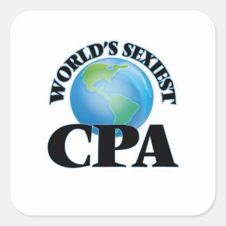 Världs mest sexiest Cpa Fyrkantigt Klistermärke