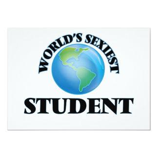 Världs mest sexiest student kort för inbjudningar