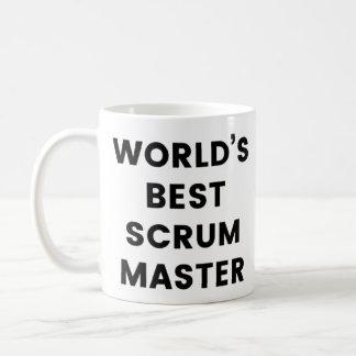 Världs mugg för kaffe för bäst Scrum ledar-