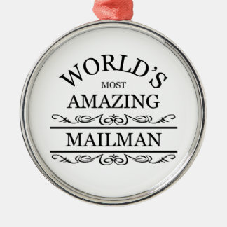 Världs postar mest fantastisk manen julgransprydnad metall