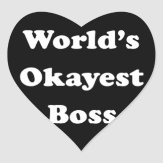 Världs roligt för humoristisk gåva för arbete för hjärtformat klistermärke