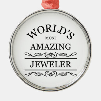 Världs` s mest fantastisk juvelerare julgransprydnad metall