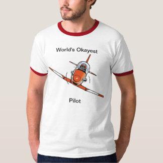 Världs skjorta för Okayest pilot- rolig flyg T Shirt
