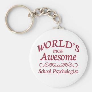 Världs skolar mest fantastisk psykologen rund nyckelring