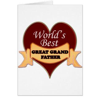 Världs stor- farfar hälsningskort