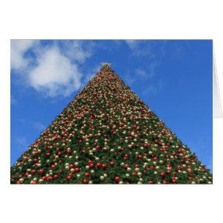 Världs största julgran hälsningskort