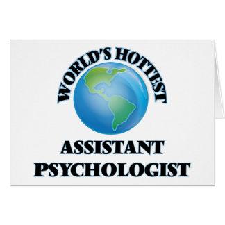 Världs varmmast assistentpsykolog hälsnings kort