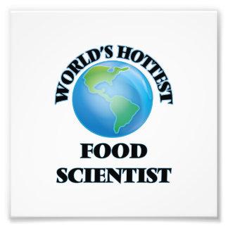 Världs varmmast matforskare fotografiskt tryck
