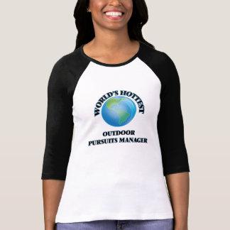 Världs varmmast utomhus- jaktchef tee shirts