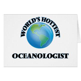 Världs varmmaste Oceanologist Hälsningskort