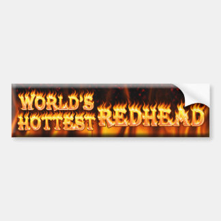 världs varmmaste rödhårig bildekal