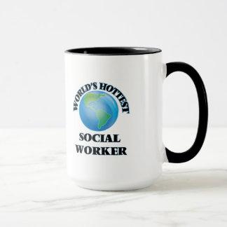 Världs varmmaste socialarbetare mugg